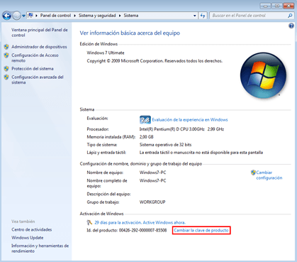 ¿Cómo activar Windows 7 ultimate?