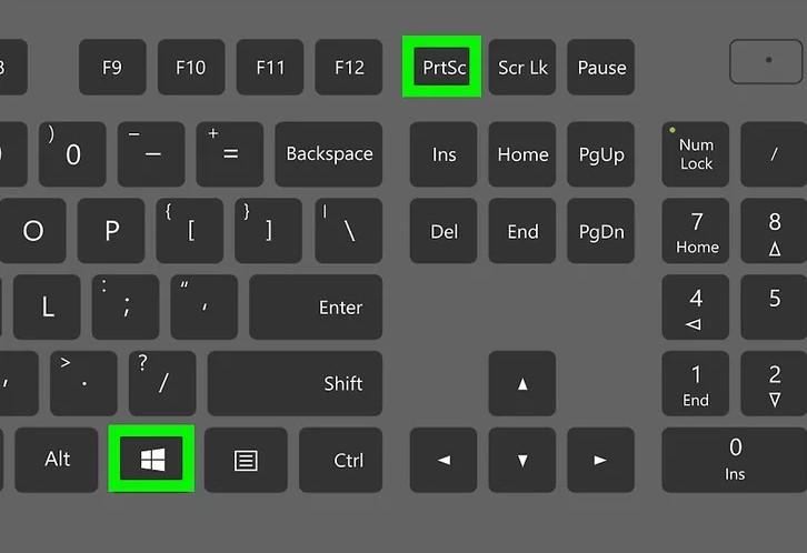 Atajos de teclado de Windows 10 para hacer una captura de pantalla a la pantalla completa