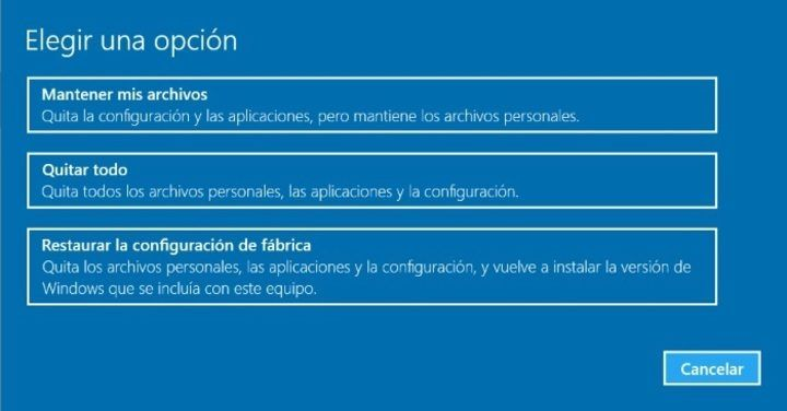 ¿Cómo restaurar Windows 10 de fábrica ?